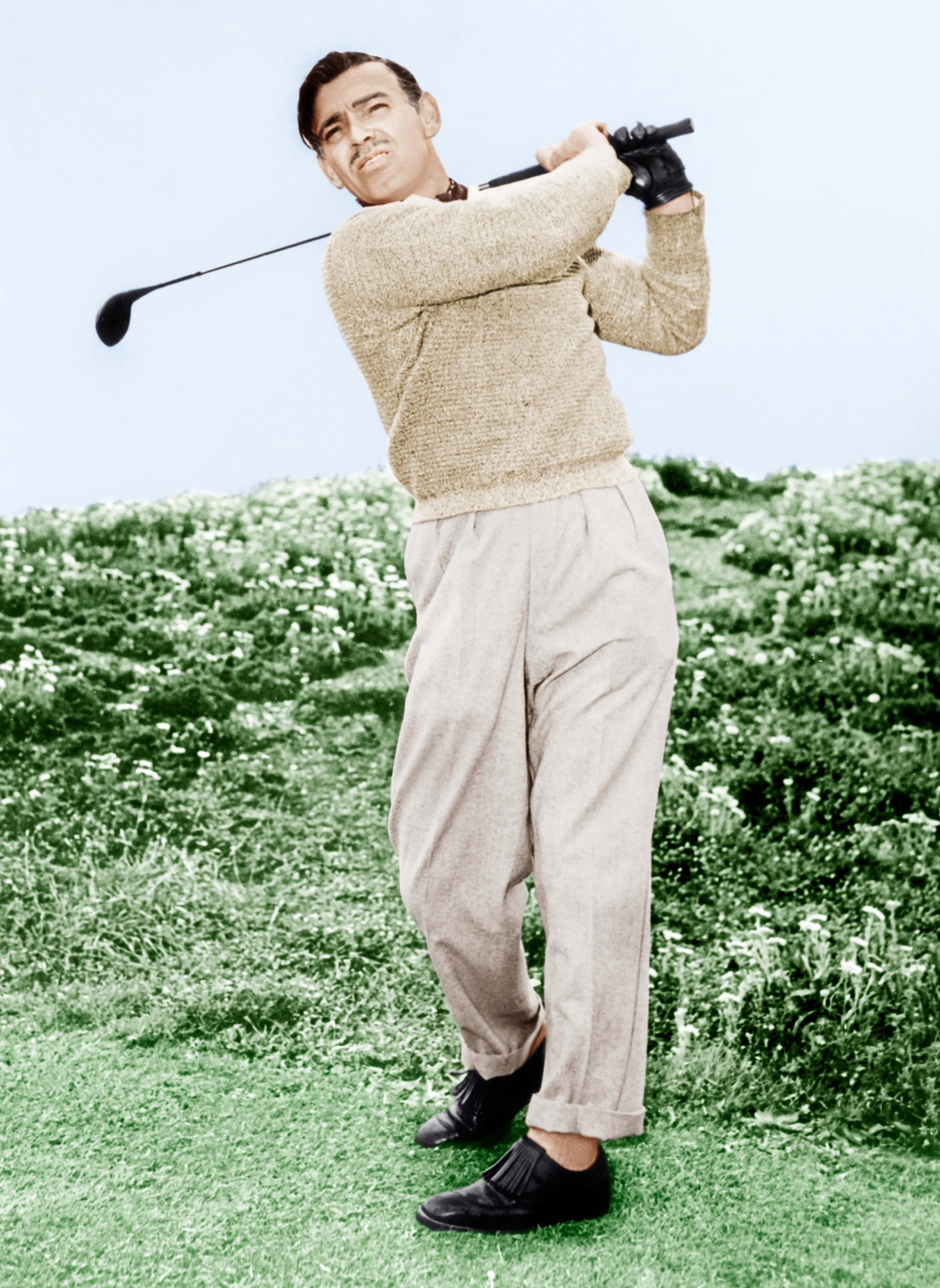 Clark Gable Enjoys A Game Of Golf, Ca. 1946
